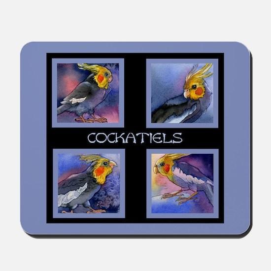 Cockatiel Parrots Mousepad