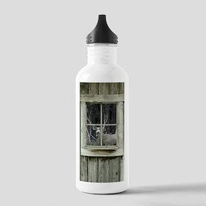 Old Cabin Window Buck 1 Water Bottle