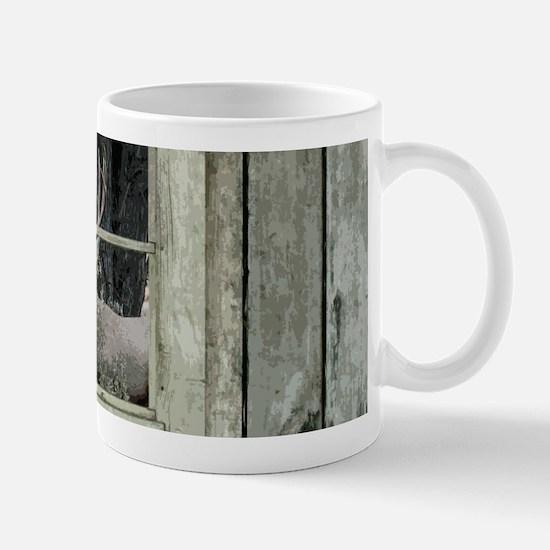Old Cabin Window Buck 1 Mugs