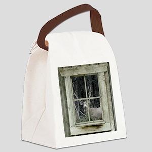Old Cabin Window Buck 1 Canvas Lunch Bag
