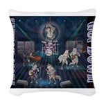 These Hounds Can Get Down!! Woven Throw Pillow