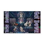 These Hounds Can Get Down!! Rectangle Car Magnet