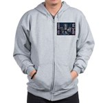 These Hounds Can Get Down!! Zip Hoodie