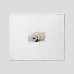 fur seal Throw Blanket