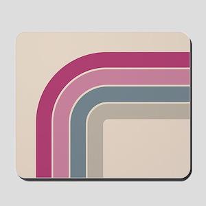Retro Vintage Pink Curve Mousepad