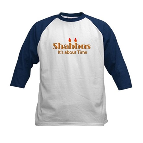 Shabbos It's About Time Kids Baseball Jersey