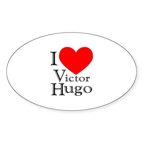 Love Victor Hugo Oval Sticker
