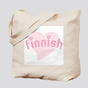 """Finnish with Hearts"" Tote Bag"