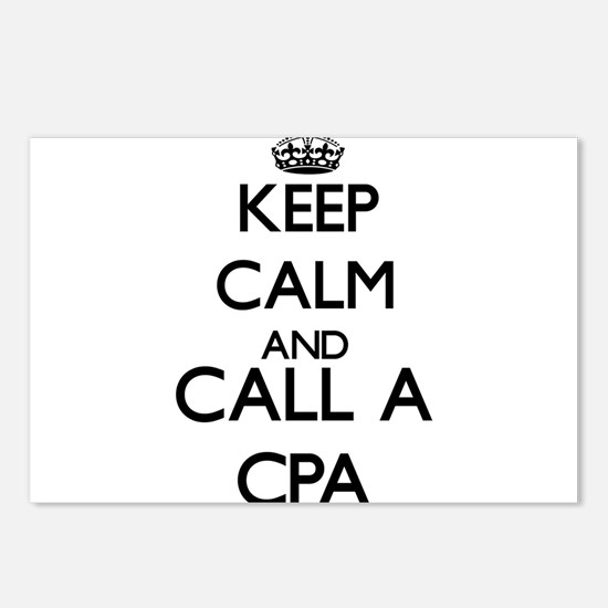 Keep calm and call a Cpa Postcards (Package of 8)