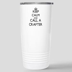 Keep calm and call a Cr Stainless Steel Travel Mug