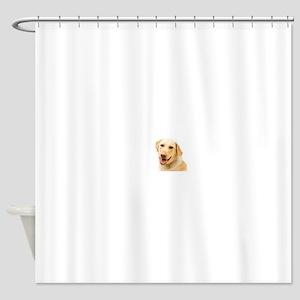 golden labrador Shower Curtain