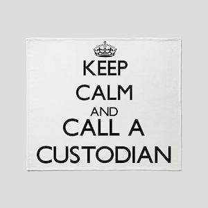 Keep calm and call a Custodian Throw Blanket