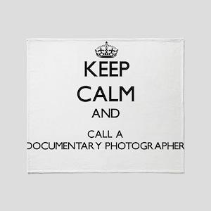 Keep calm and call a Documentary Pho Throw Blanket