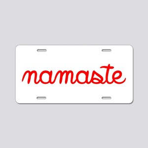 Namaste Script Aluminum License Plate