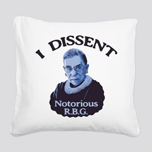 Notorious RBG Square Canvas Pillow