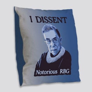 Notorious RBG Burlap Throw Pillow