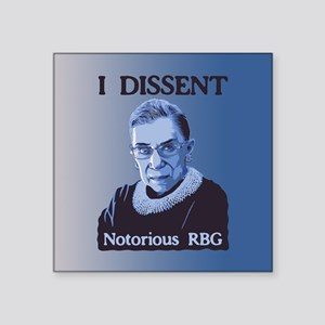 3e2f0b79727 Notorious RBG Square Sticker 3