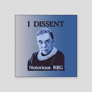3e2f0b79727 Notorious RBG Square Sticker 3