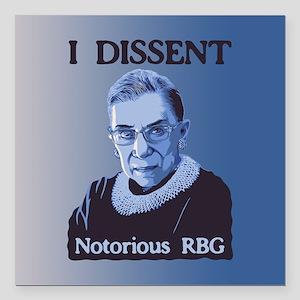 "Notorious RBG Square Car Magnet 3"" x 3"""