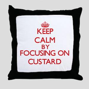 Keep Calm by focusing on Custard Throw Pillow