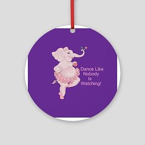 Elephantina Ballerina Ornament (Round)