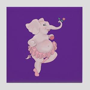 Elephantina Ballerina Tile Coaster