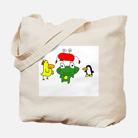 Leo and friends tote bag