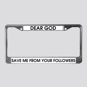 GodSaveMe License Plate Frame