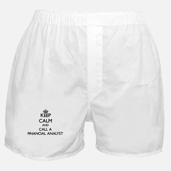 Keep calm and call a Financial Analys Boxer Shorts