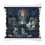 Dogs, Fun, and Rock Roll Woven Throw Pillow