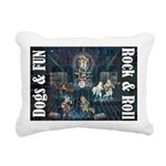 Dogs, Fun, and Rock Roll Rectangular Canvas Pillow