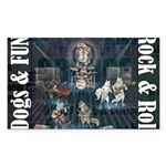 Dogs, Fun, and Rock Roll Sticker