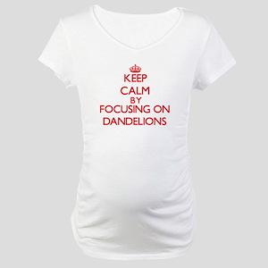 Keep Calm by focusing on Dandeli Maternity T-Shirt