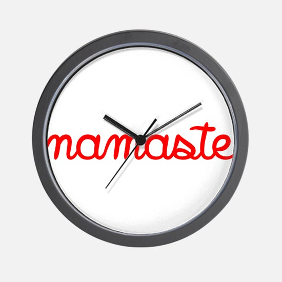 Namaste Script Wall Clock