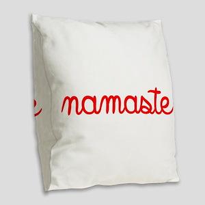 Namaste Script Burlap Throw Pillow