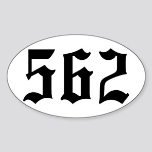 """562"" Oval Sticker"