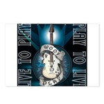 Live To Play Stage Postcards (Package of 8)