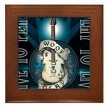Live To Play Stage Framed Tile