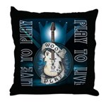 Live To Play Stage Throw Pillow