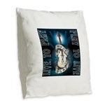 Live To Play Stage Burlap Throw Pillow