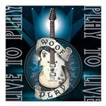 Live To Play Stage Square Car Magnet 3