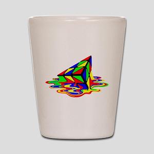 Pyraminx cude painting01B Shot Glass