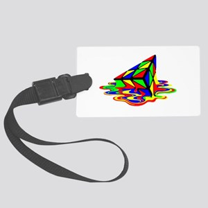 Pyraminx cude painting01B Luggage Tag