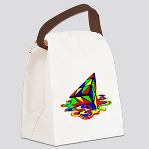 Pyraminx cude painting01B Canvas Lunch Bag