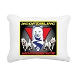 WooFTailing Emblem Rectangular Canvas Pillow