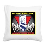 WooFTailing Emblem Square Canvas Pillow