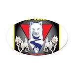 WooFTailing Emblem Oval Car Magnet