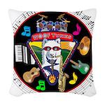 WooFTunes LogoMusic Woven Throw Pillow