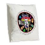WooFTunes LogoMusic Burlap Throw Pillow