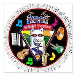 WooFTunes LogoMusic Square Car Magnet 3